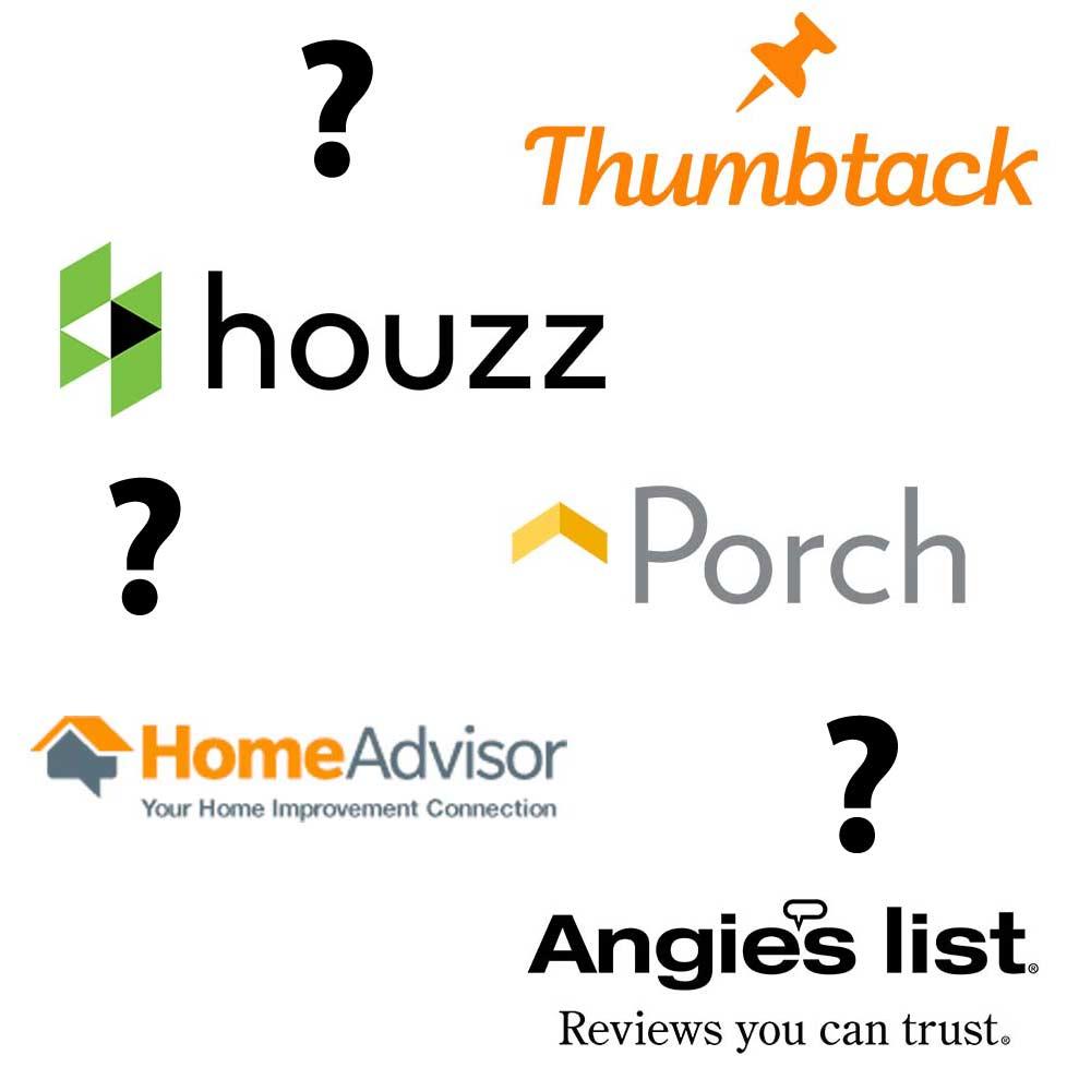 Homeadvisor Vs Angie S List Vs Houzz Vs Porch Vs Thumbtack Vs Yelp